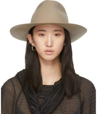 Cherevichkiotvichki White Wool Wide Brim Hat