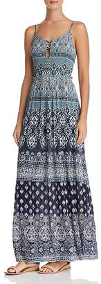Aqua Batik Print Maxi Dress - 100% Exclusive