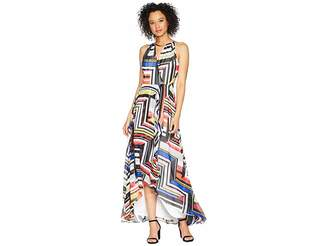 Sangria Multicolor Color Print Maxi Dress Women's Dress