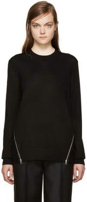 McQ Black Lace Back Pullover