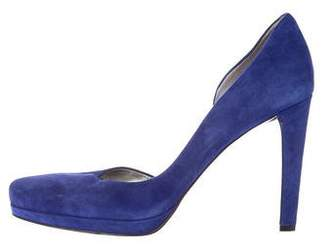 Marc Fisher Suede Semi d'Orsay Pumps