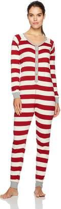 Burt's Bees Baby Women's Adult Organic 1 Piece Holiday Suit Sleepwear, -, Med