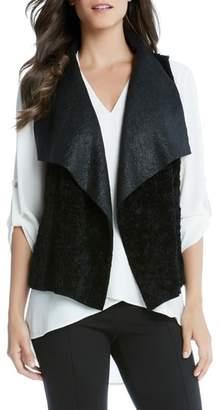 Karen Kane Reversible Faux Fur Vest