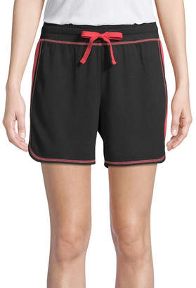 ST. JOHN'S BAY SJB ACTIVE Active Color Block Womens 6 1/2 Workout Shorts