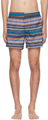 Missoni Blue Zig Zag Swim Shorts