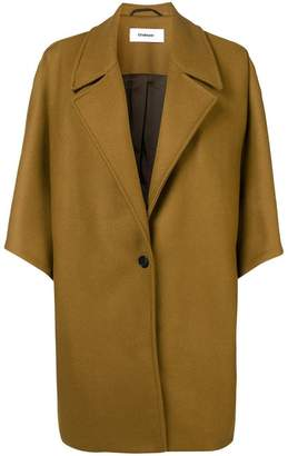 Chalayan pleat shoulder coat