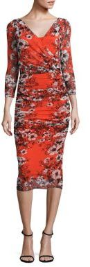 Fuzzi Vintage Floral Bodycon Dress $580 thestylecure.com