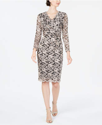 Jessica Howard Surplice Lace Sheath Dress