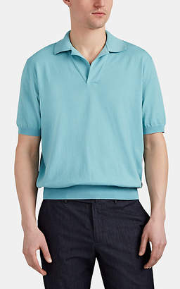 Cifonelli Men's Cotton Polo Shirt - Turquoise