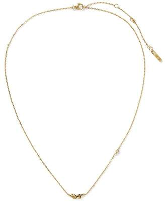 Banana Republic Everyday Luxuries 14k Gold-Plated CZ Knot Necklace