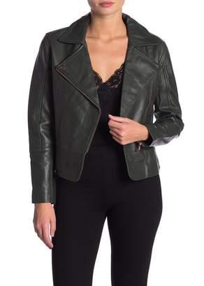 Ted Baker Minimal Leather Biker Jacket