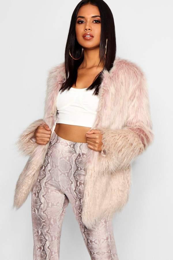 Mixed Faux Fur Coat