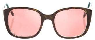 Collette Dinnigan Tortoiseshell Oversize Sunglasses