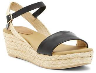 Matt Bernson Neptune Leather Platform Wedge Espadrille Sandal