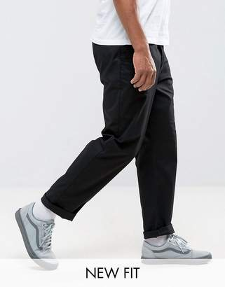 Asos DESIGN relaxed chinos in black