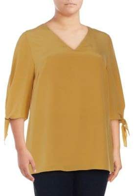 Lafayette 148 New York Plus Kenna Silk Blouse