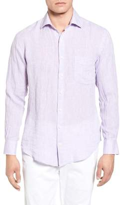 Peter Millar Classic Fit Crown Cool Linen Sport Shirt