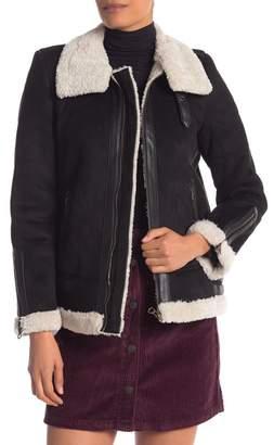 Vero Moda Faux Suede & Fur Jacket