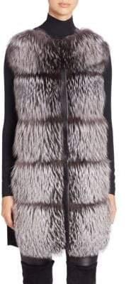 The Fur Salon Fox Fur& Wool Vest