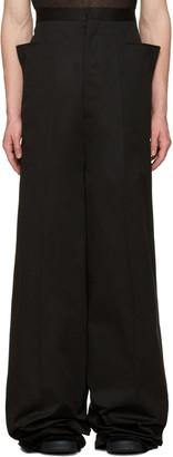 Rick Owens Black Walrus Trousers $830 thestylecure.com