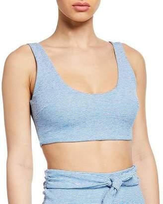 Mara Hoffman Lira Striped Bikini Top