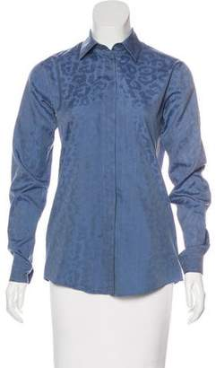 Gucci Long Sleeve Button-Up Top