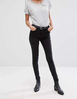 Pieces Rika Raw Hem Skinny Jeans