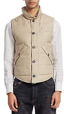 Brunello Cucinelli Men's Padded Houndstooth Vest