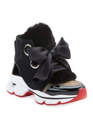 c346a83bcce Christian Louboutin Shoes With Fur - ShopStyle