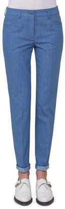 Akris Magda Slim-Leg Ankle Jeans