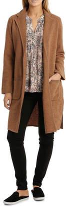 Jump Longsleeve Boiled Wool Coat
