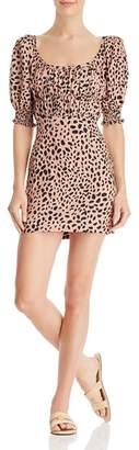Fame & Partners Animal-Print Mini Dress