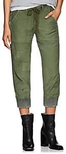 Greg Lauren Women's Baker Cotton Canvas Lounge Pants - Army