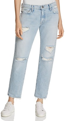 Current/Elliott The Fling Boyfriend Jeans in Alta Destroy $258 thestylecure.com