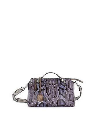 Fendi By the Way Small Python Satchel Bag, Purple