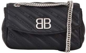 Balenciaga Round Bb Bag Sm Black