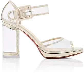 Christian Louboutin Women's Barbaclara Specchio Leather & PVC Platform Sandals