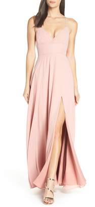 Fame & Partners Strappy Evening Dress