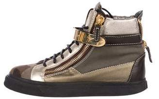 Giuseppe Zanotti London Metallic Sneakers