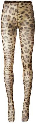 Dolce & Gabbana leopard print tights