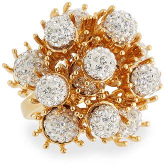 Lele Sadoughi Dandelion Fireball Crystal Cocktail Ring, Size 7