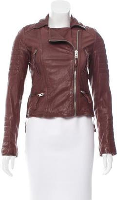 AllSaints Leather Moto Jacket $275 thestylecure.com