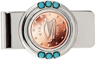 American Coin Treasures Irish 2 Euro Coin Turquoise Money Clip