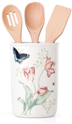 Lenox Butterfly Meadow Kitchen Jar with Utensils