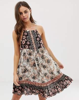 cf44b6bc9eb1 Free People White Print Jersey Dresses - ShopStyle UK