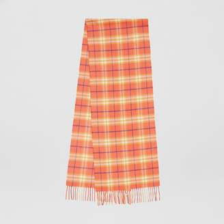 Burberry The Classic Vintage Check Cashmere Scarf, Red