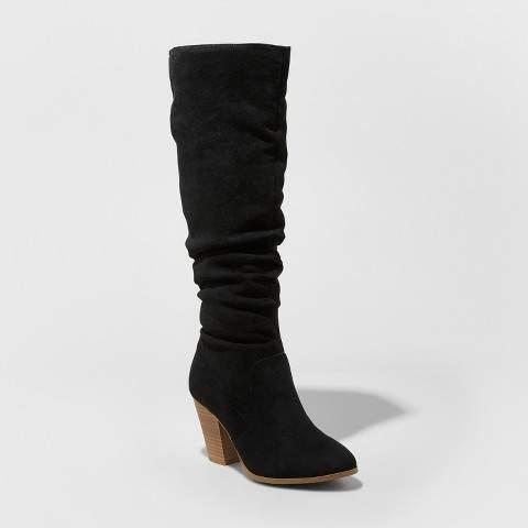 Universal Thread Women's Lanae Scrunch Fashion Boots