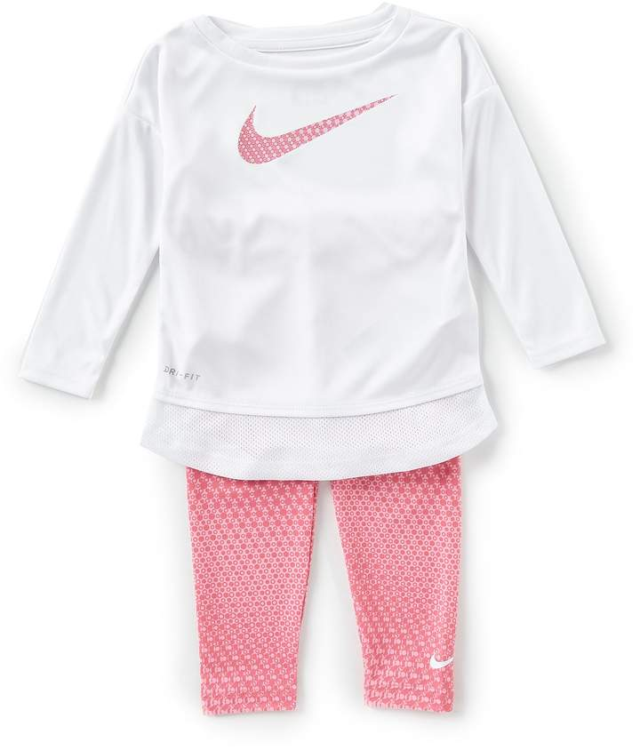 Nike Baby Girls 12-24 Months Dri-Fit Long Sleeve Tunic & Printed Leggings Set
