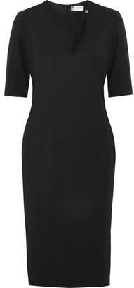 Lanvin Cutout Stretch-wool Twill Dress - Black