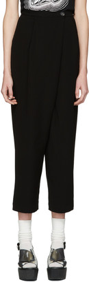 McQ Alexander Mcqueen Black Crossover Trousers $415 thestylecure.com